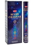 7 Chakras Incense Sticks, Hex Pack - 6 Boxes of 20 Sticks (120 Sticks)